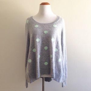 Victoria's Secret Gray Polka Dot Sweater Medium